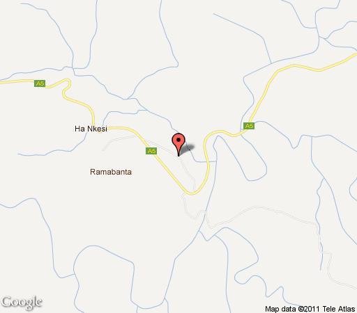 Map Ramabanta Lodge in Ha Ramabanta  Maseru (District)  Lesotho