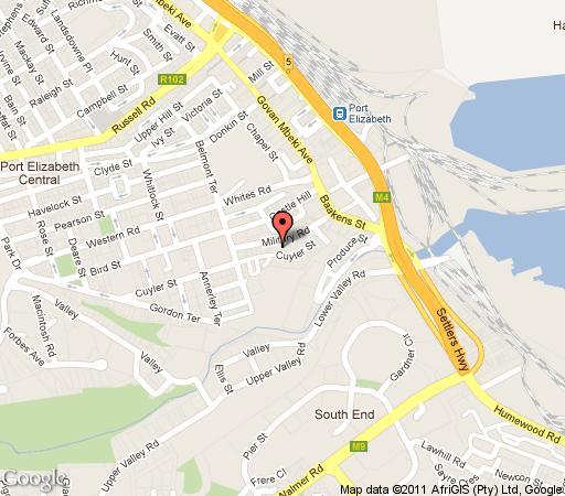 Port elizabeth central accommodation accommodation in port elizabeth central - Port elizabeth south africa map ...