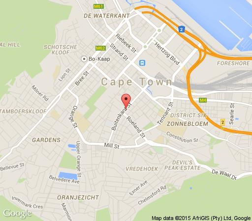 Map 14 Harbour Terrace in De Waterkant  Atlantic Seaboard  Cape Town  Western Cape  South Africa