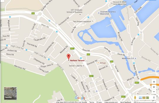 Map 31 Harbour Terrace in De Waterkant  City Bowl  Cape Town  Western Cape  South Africa