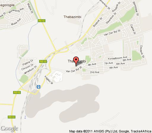 Map De Oude Hys Guest House in Thabazimbi  Waterberg  Bushveld  Limpopo  South Africa