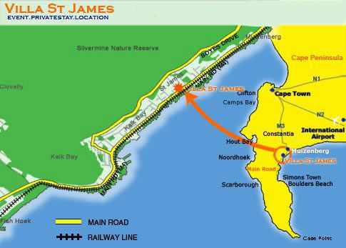 Map Villa St James in St James  False Bay  Cape Town  Western Cape  South Africa