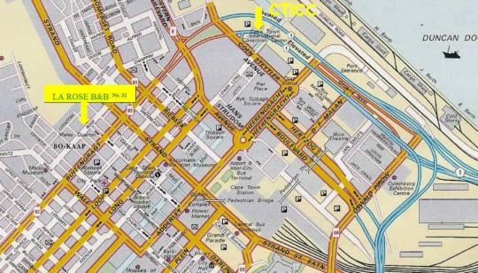 Map La Rose in Ville de Cape Town  City Bowl  Le Cap  Western Cape  Afrique du Sud