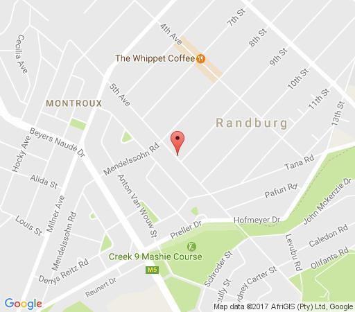 Map 5th Avenue Gooseberry Guest House in Linden  Northcliff/Rosebank  Johannesburg  Gauteng  South Africa