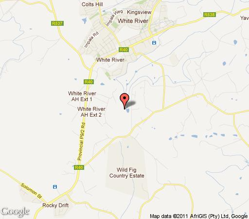 Map Mallard Cottage in White River  The Panorama  Mpumalanga  Afrique du Sud