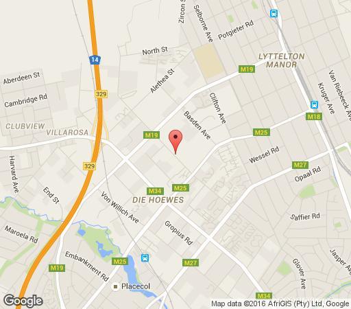 Map Lapalosa Lodge in Centurion Central  Centurion  Pretoria / Tshwane  Gauteng  South Africa
