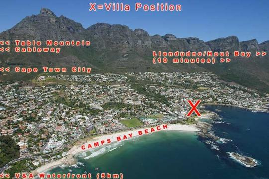 Map Andimar Heights in Camps Bay  Atlantic Seaboard  Cape Town  Western Cape  South Africa