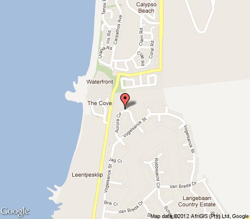 Map Aurora 1313, Langebaan Country Estate in Langebaan  West Coast (WC)  Western Cape  South Africa