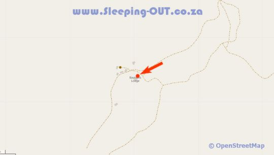 Map Baviaans Lodge in Baviaanskloof  Cacadu (Sarah Baartman)  Eastern Cape  South Africa