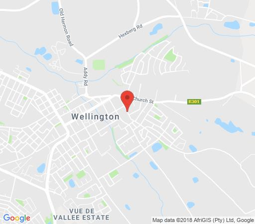 Map Cummings Guesthouse in Wellington  Cape Winelands  Western Cape  South Africa