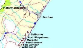 Map Golf House in Southbroom  South Coast (KZN)  KwaZulu Natal  South Africa