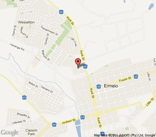 Map Marjo 2 Guesthouse in Ermelo  Wetlands  Mpumalanga  South Africa