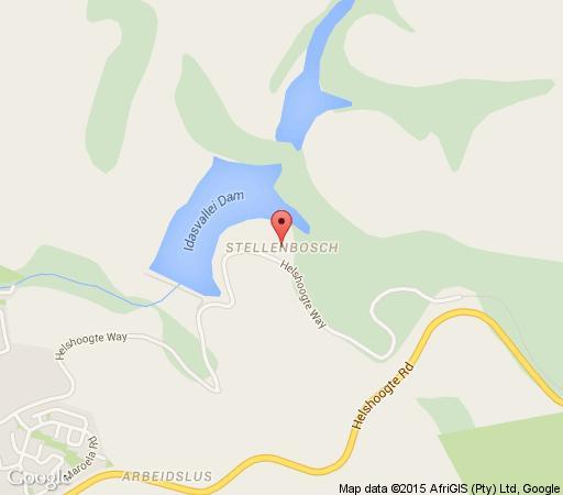 Map Hoopenburg Guestlodge in Stellenbosch  Cape Winelands  Western Cape  South Africa