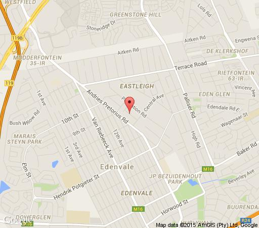Map Carmel Place in Edenvale  Ekurhuleni (East Rand)  Gauteng  South Africa