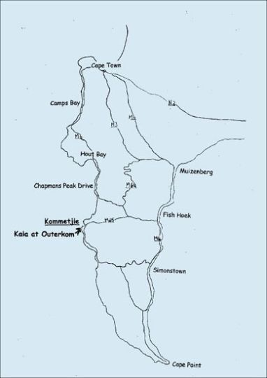 Map Kaia at Outerkom in Kommetjie  False Bay  Cape Town  Western Cape  South Africa