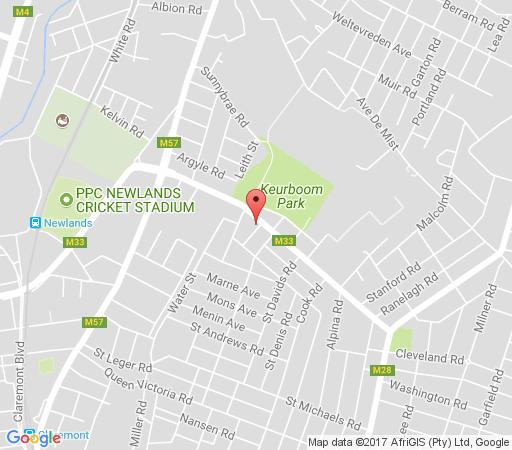 Map The Haven Guest Lodge in Claremont  Southern Suburbs (CPT)  Cape Town  Western Cape  South Africa