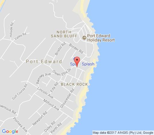 Map Windsor Guest House in Port Edward  South Coast (KZN)  KwaZulu Natal  South Africa