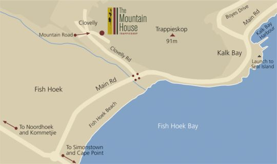 Map The Mountain House - Trappieskop in Fish Hoek  False Bay  Cape Town  Western Cape  South Africa