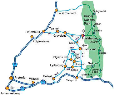 Map Sefapane Lodge & Safaris in Phalaborwa  Valley of the Olifants  Limpopo  South Africa