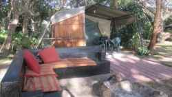 3 x2 sleeper Tents - en suite bathroom and kitchen Room Thumbnail Pic 1
