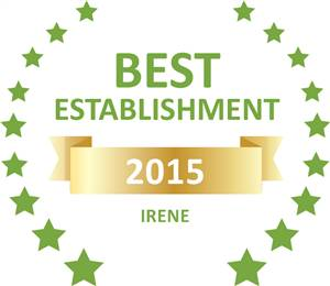 Sleeping-OUT's Guest Satisfaction Award. Based on reviews of establishments in Irene, Blue Periwinkle has been voted Best Establishment in Irene for 2015