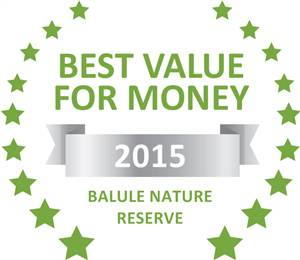 Sleeping-OUT's Guest Satisfaction Award. Based on reviews of establishments in Balule Nature Reserve, Rio Dos Elefantes River Camp has been voted Best Value for Money in Balule Nature Reserve for 2015