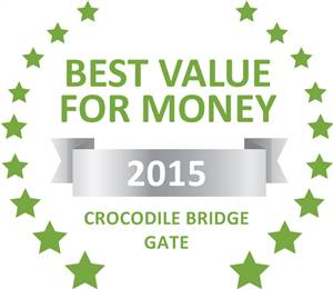 Sleeping-OUT's Guest Satisfaction Award. Based on reviews of establishments in Crocodile Bridge Gate, Elephant Walk Retreat has been voted Best Value for Money in Crocodile Bridge Gate for 2015