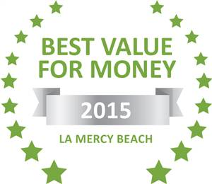 Sleeping-OUT's Guest Satisfaction Award. Based on reviews of establishments in La Mercy Beach, La-Peng Guest House has been voted Best Value for Money in La Mercy Beach for 2015