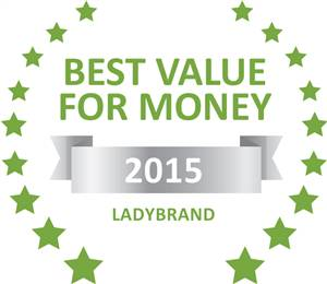 Sleeping-OUT's Guest Satisfaction Award. Based on reviews of establishments in Ladybrand, Twin Oaks Guest Farm  has been voted Best Value for Money in Ladybrand for 2015