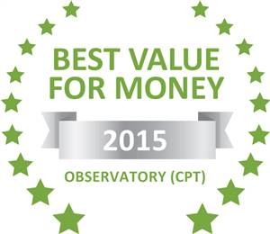 Sleeping-OUT's Guest Satisfaction Award. Based on reviews of establishments in Observatory (CPT), Bay Leaf Cottage has been voted Best Value for Money in Observatory (CPT) for 2015