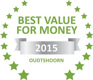 Sleeping-OUT's Guest Satisfaction Award. Based on reviews of establishments in Oudtshoorn, Cango Retreat has been voted Best Value for Money in Oudtshoorn for 2015