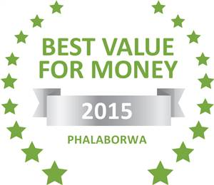 Sleeping-OUT's Guest Satisfaction Award. Based on reviews of establishments in Phalaborwa, Arimagham Guest House has been voted Best Value for Money in Phalaborwa for 2015