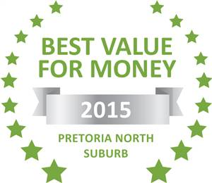 Sleeping-OUT's Guest Satisfaction Award. Based on reviews of establishments in Pretoria North Suburb, Picture This Pretoria North Lodge has been voted Best Value for Money in Pretoria North Suburb for 2015