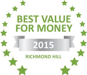 Sleeping-OUT's Guest Satisfaction Award. Based on reviews of establishments in Richmond Hill, 1 Sherlock Street has been voted Best Value for Money in Richmond Hill for 2015