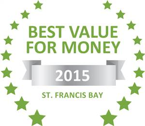 Sleeping-OUT's Guest Satisfaction Award. Based on reviews of establishments in St. Francis Bay, I-Lollo Lodge has been voted Best Value for Money in St. Francis Bay for 2015