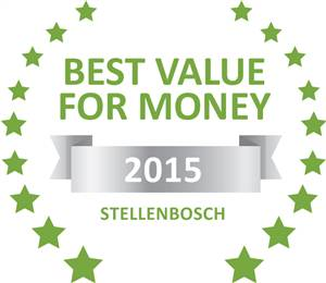 Sleeping-OUT's Guest Satisfaction Award. Based on reviews of establishments in Stellenbosch, Beautiful South Guest House has been voted Best Value for Money in Stellenbosch for 2015