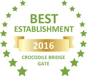 Sleeping-OUT's Guest Satisfaction Award. Based on reviews of establishments in Crocodile Bridge Gate, Jackalberry Ridge has been voted Best Establishment in Crocodile Bridge Gate for 2016