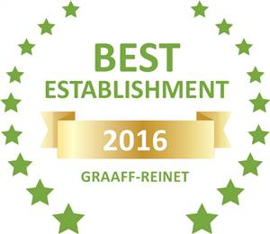 Sleeping-OUT's Guest Satisfaction Award. Based on reviews of establishments in Graaff-Reinet, Beau And I has been voted Best Establishment in Graaff-Reinet for 2016