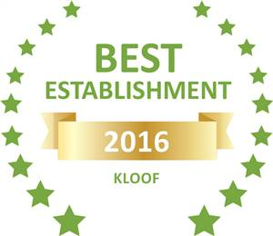 Sleeping-OUT's Guest Satisfaction Award. Based on reviews of establishments in Kloof, Kloof Falls Lodge B&B has been voted Best Establishment in Kloof for 2016