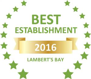 Sleeping-OUT's Guest Satisfaction Award. Based on reviews of establishments in Lambert's Bay, Sir Lambert's Guest House has been voted Best Establishment in Lambert's Bay for 2016