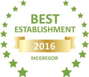 Sleeping-OUT's Guest Satisfaction Award. Based on reviews of establishments in McGregor, Cape Cottages McGregor has been voted Best Establishment in McGregor for 2016