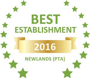 Sleeping-OUT's Guest Satisfaction Award. Based on reviews of establishments in Newlands (PTA), 94onWild has been voted Best Establishment in Newlands (PTA) for 2016