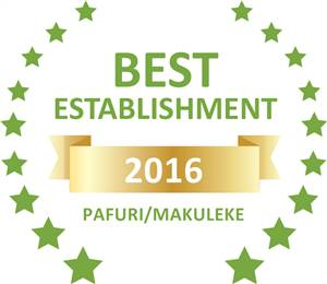 Sleeping-OUT's Guest Satisfaction Award. Based on reviews of establishments in Pafuri/Makuleke, Tshulu Wilderness Tented Camp has been voted Best Establishment in Pafuri/Makuleke for 2016