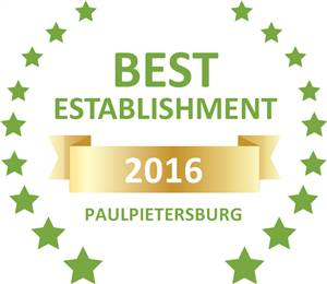 Sleeping-OUT's Guest Satisfaction Award. Based on reviews of establishments in Paulpietersburg, The Country Charm has been voted Best Establishment in Paulpietersburg for 2016