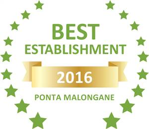 Sleeping-OUT's Guest Satisfaction Award. Based on reviews of establishments in Ponta Malongane, Tartaruga Maritima Luxury Tented Camp  has been voted Best Establishment in Ponta Malongane for 2016