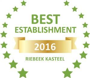 Sleeping-OUT's Guest Satisfaction Award. Based on reviews of establishments in Riebeek Kasteel,  KATARINAS has been voted Best Establishment in Riebeek Kasteel for 2016