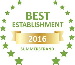 Sleeping-OUT's Guest Satisfaction Award. Based on reviews of establishments in Summerstrand, Africa Beach Bed & Breakfast has been voted Best Establishment in Summerstrand for 2016