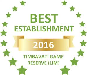 Sleeping-OUT's Guest Satisfaction Award. Based on reviews of establishments in Timbavati Game Reserve (LIM), Simbavati River Lodge has been voted Best Establishment in Timbavati Game Reserve (LIM) for 2016
