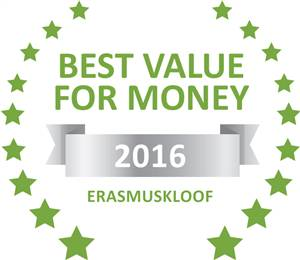 Sleeping-OUT's Guest Satisfaction Award. Based on reviews of establishments in Erasmuskloof, K4  SELF-CATERING has been voted Best Value for Money in Erasmuskloof for 2016