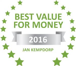 Sleeping-OUT's Guest Satisfaction Award. Based on reviews of establishments in Jan Kempdorp, Jan Kemp Hotel has been voted Best Value for Money in Jan Kempdorp for 2016